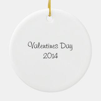 Valentine Ornament/Gift tag Ceramic Ornament