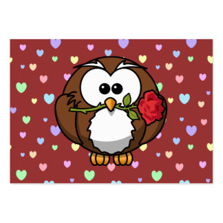 Valentine owl large business cards (Pack of 100)