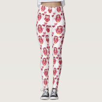 Valentine Owls and Balloons Leggings