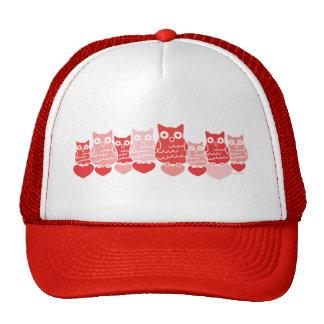 Valentine Owls Mesh Hat