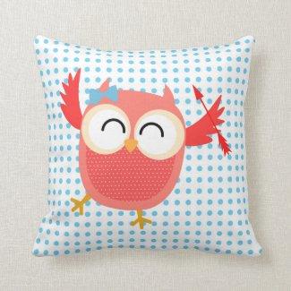 Valentine Owls Pillow