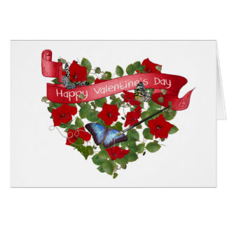 Valentine Painted Butterfly Card