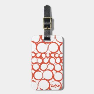Valentine Painted XOXO Bag Tag