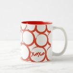 Valentine Painted XOXO Coffee Mug