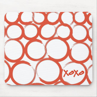 Valentine Painted XOXO Mouse Pad