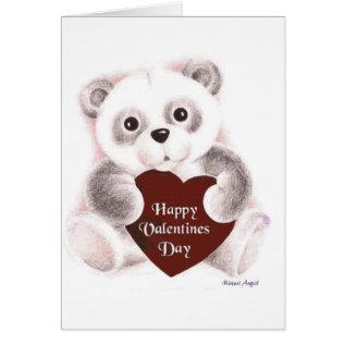 Valentine Panda Sketch Card at Zazzle
