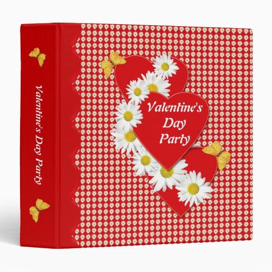 Valentine Party Daisies 2 inch Binder