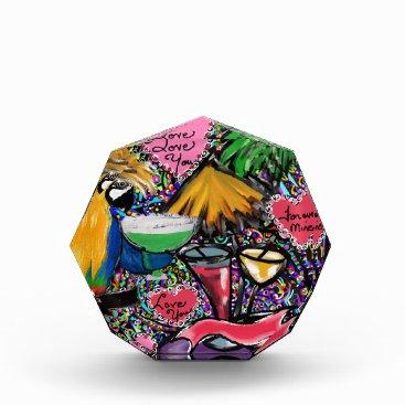 Hawaiian Themed Valentine Party Parrot Acrylic Award
