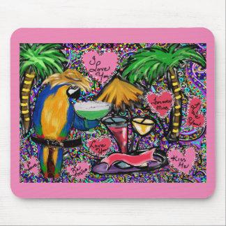 Valentine Party Parrot Mouse Pad
