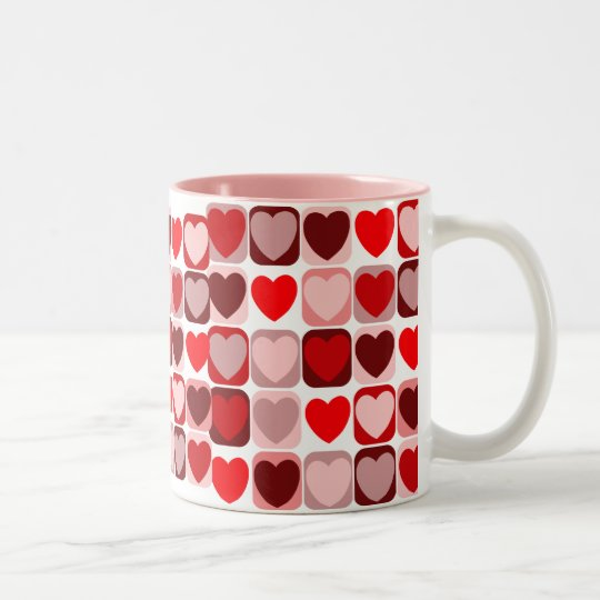 Valentine Patchwork Two-Tone Coffee Mug