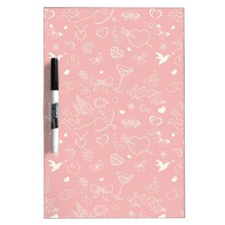 Valentine Pattern Dry Erase Board