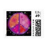 Valentine Peace Sign Postage Stamp