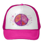 Valentine Peace Sign Trucker Hat