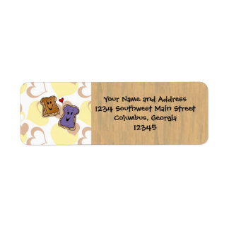 Valentine Peanut Butter and Jelly Labels