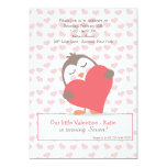 """Valentine Penguin Invitation 5"""" X 7"""" Invitation Card"""
