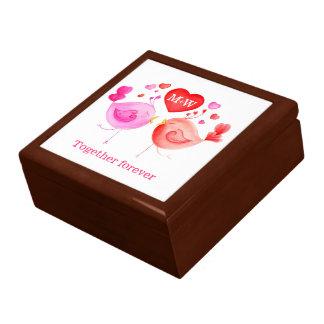 Valentine personalized love birds gift box