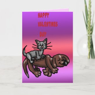 Valentine Pets Card card