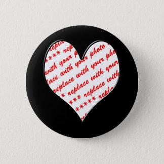 Valentine Photo Frame Pinback Button