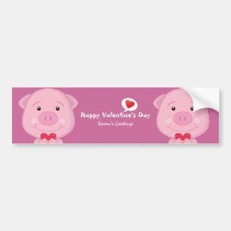 Valentine pig Bumper Sticker