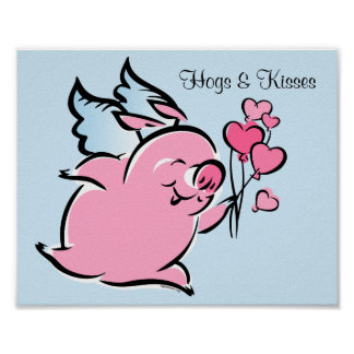 Valentine Pig Posters