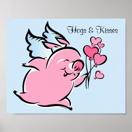 Valentine Pig Posters