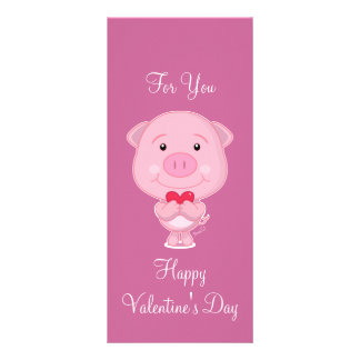 Valentine pig Rack Card