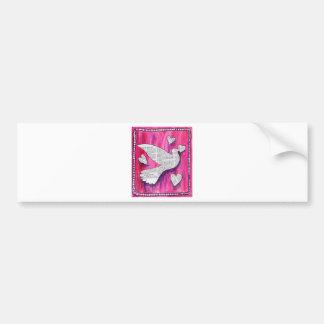 valentine  pigeon car bumper sticker