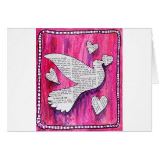 valentine  pigeon card
