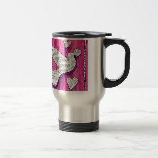 valentine  pigeon 15 oz stainless steel travel mug