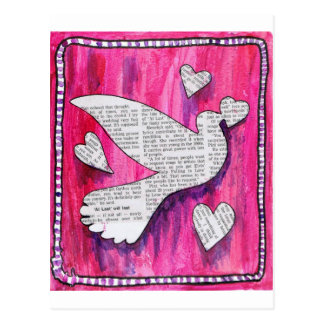 valentine  pigeon postcard