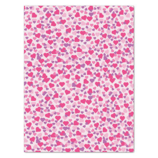Valentine Pink and Purple Hearts Tissue Paper