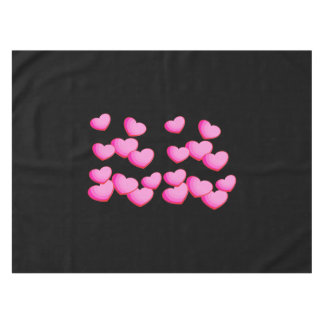 Valentine Pink Heart Clusters Tablecloth