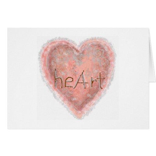 Valentine Pink Heart Greeting Card