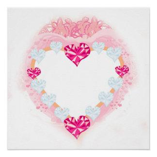 valentine pink heart Poster