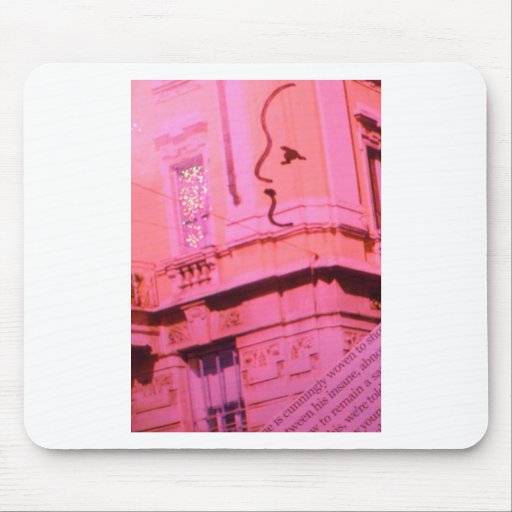 Valentine Pink Red Paris With Floating Girl Dream Mouse Pad