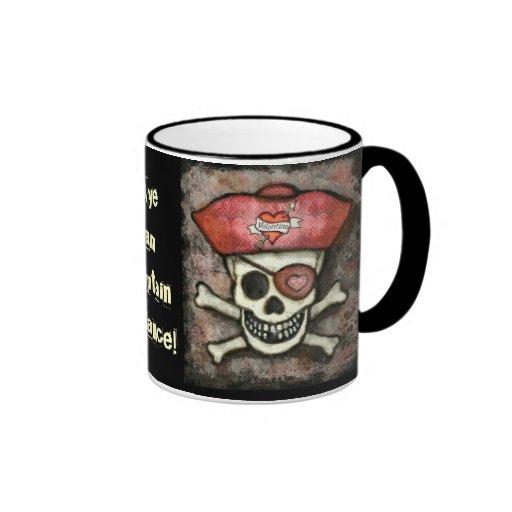 Valentine Pirate Coffee Mug