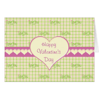 Valentine Plaid Love You Card