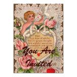 Valentine Poem With Cupid 13 Cm X 18 Cm Invitation Card