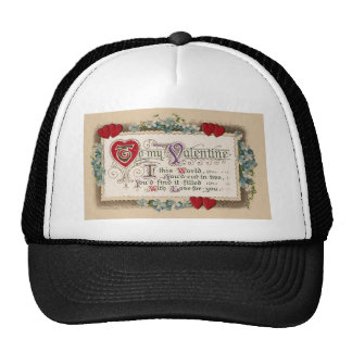Valentine Poem With Hearts Hat