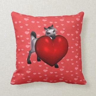 Valentine Pony Throw Pillow