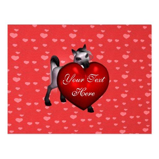 Valentine Pony Postcard