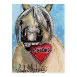 Valentine Pony Postcard Palamino