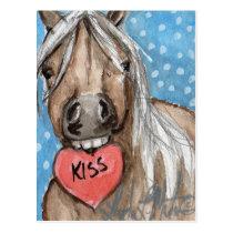 Valentine Pony Postcard Silver Bay