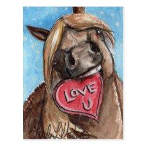 Valentine Pony Postcard Taffy