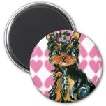 Valentine Poo 2 Inch Round Magnet