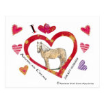 Valentine Postcard of American Cream Draft Horses