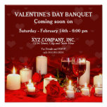VALENTINE/POSTER- Candles/Wine/Roses (personalize)