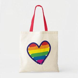 Valentine Pride Rainbow Tote Bag