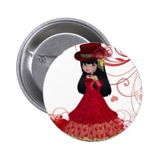 Valentine Princess Button