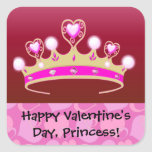 Valentine Princess Square Sticker